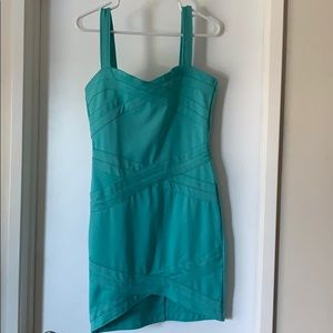 Turquoise teal party dress. L